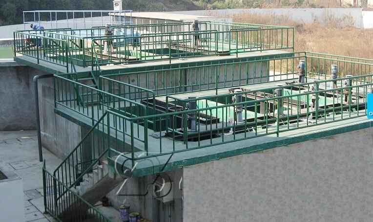 电镀废水处理站立面图